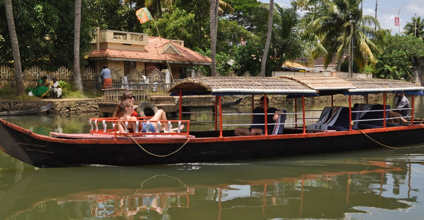 Riding on Kerala Backwaters