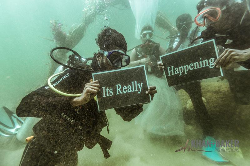Under water wedding Kerala