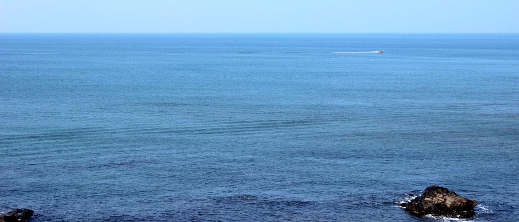 view from vagator beach Goa
