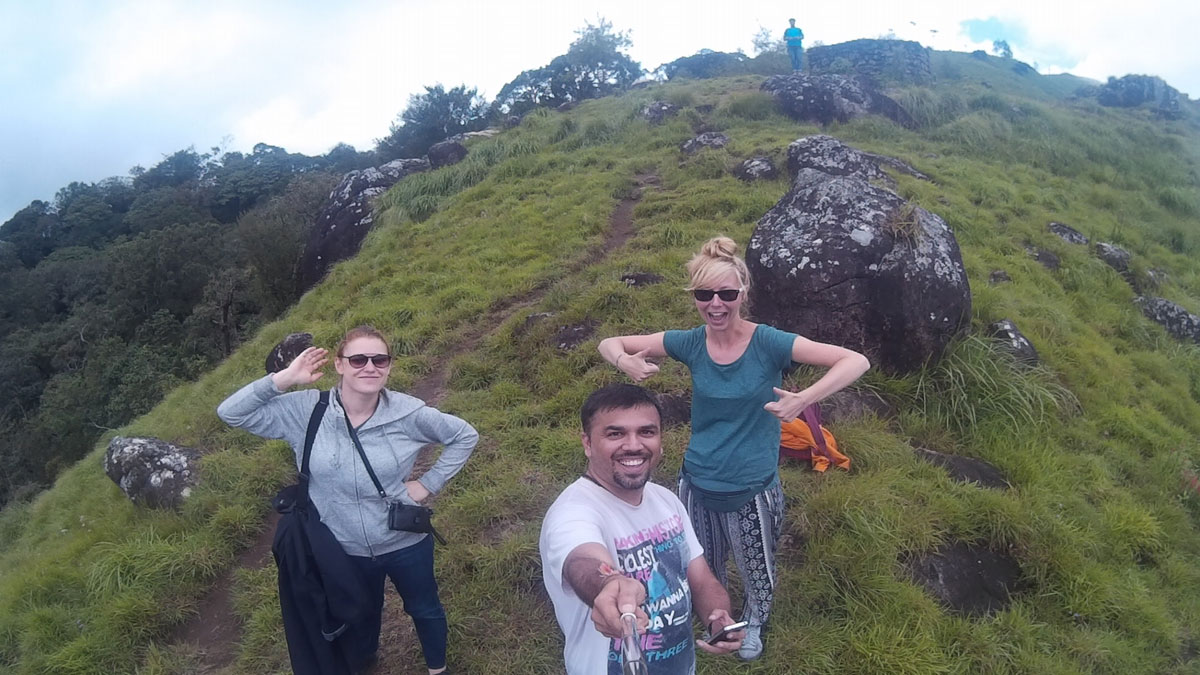 foreigner travelling to Munnar