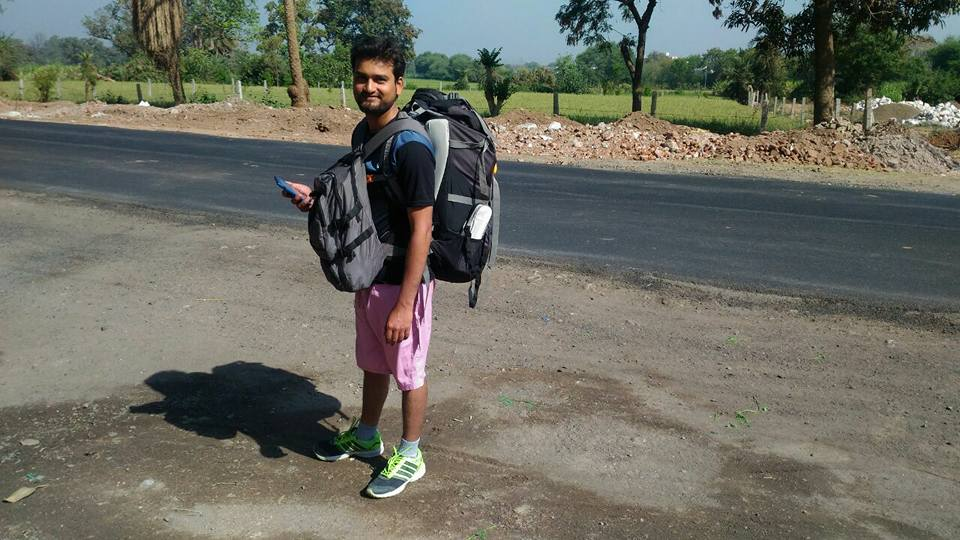 Hitch hiking in India