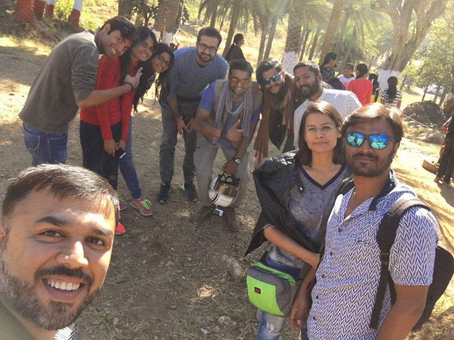 Group selfie at fun zone park mount abu