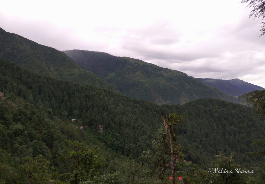 Hill view around Dharmakot