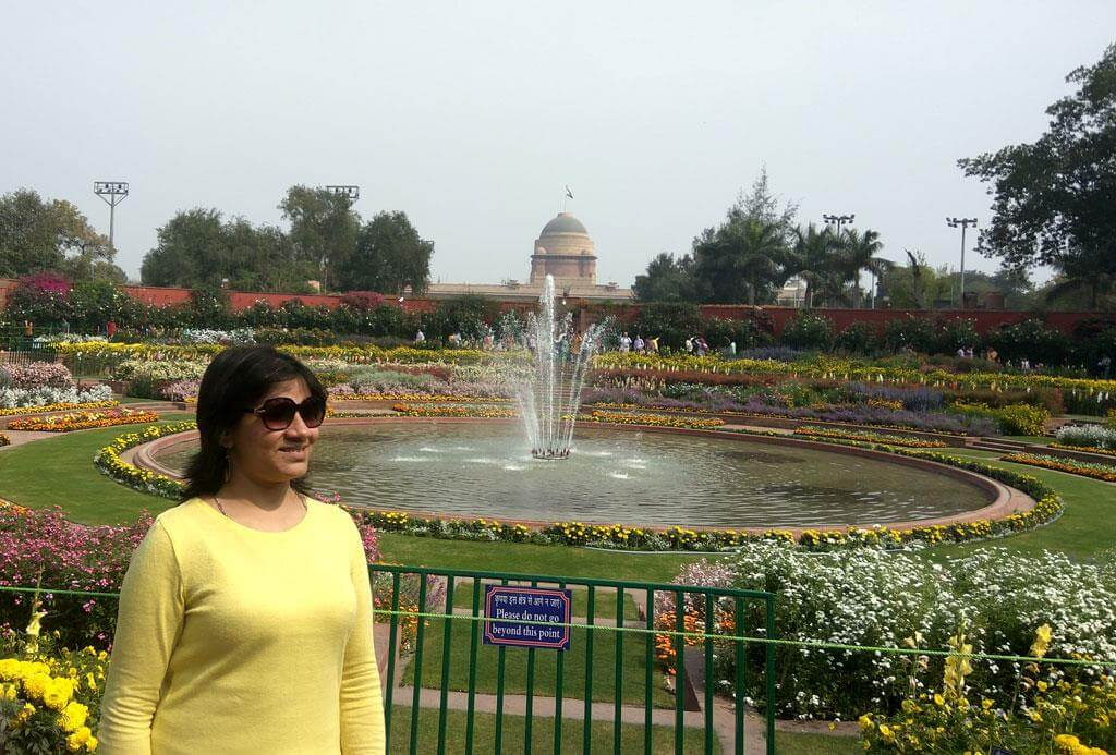 Mahima sharma at Mughal Garden Delhi